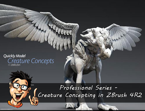 Digital - Tutors - Professional Series - Creature Concepting in ZBrush 4R2