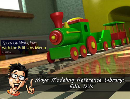 Digital - Tutors - Maya Modeling Reference Library: Edit UVs