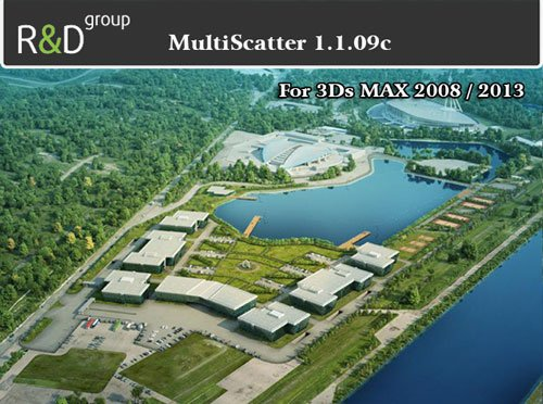 MultiScatter 1.1.09c For 3Ds Max 2008/2013 x64Bit