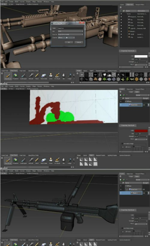 Magic Stone Studios, LLC – Painting in Mudbox for UDK 2012