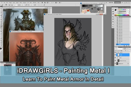 iDRAWGiRLS : Painting Metal I - Learn To Paint Metal Armor In Detail
