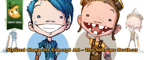 CG Cookie – Stylized Character Concept Art – The Software Brothers