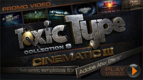 Toxic Type Collection 8 : Cinematic for After Effects