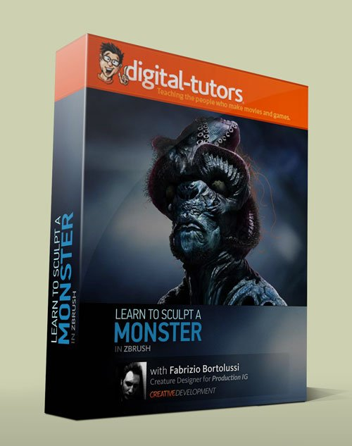 Digital - Tutors - Creative Development: Monster Sculpting Techniques in ZBrush with Fabrizio Bortolussi
