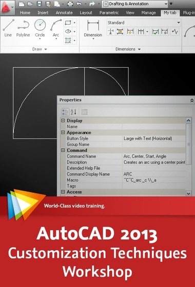 video2brain - AutoCAD 2013 Customization Techniques Workshop (English)
