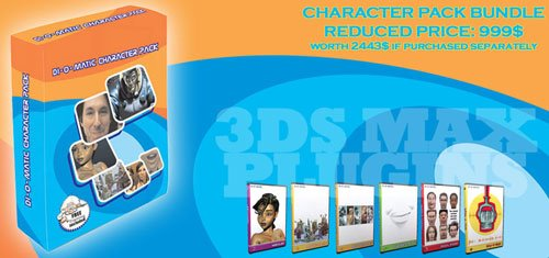 Di-O-Matic Character Pack v1.6 VIP Edition For 3Ds Max 2013