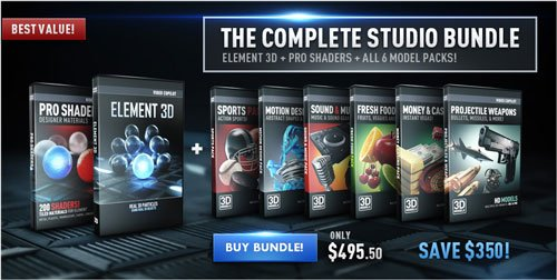 Video Copilot – Element 3D – The Complete Studio Bundle