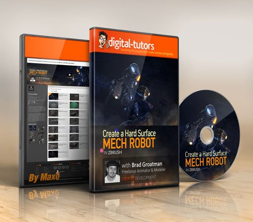 Digital - Tutors - Creative Development: Modeling a Mech Robot in ZBrush
