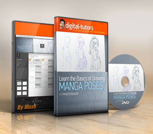 Digital - Tutors - Drawing Manga Anatomy and Poses in Photoshop