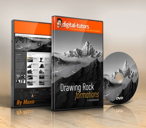 Digital - Tutors - Drawing Rock Formations in Photoshop