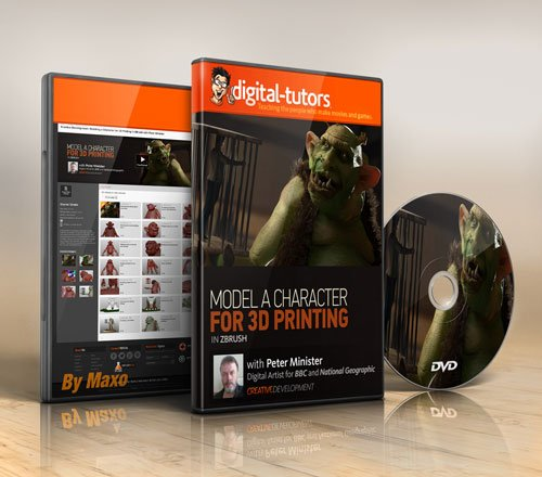 Digital - Tutors - Creative Development: Modeling a Character for 3D Printing in ZBrush