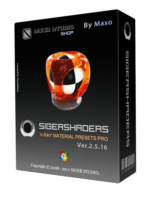 SIGERSHADERS V-Ray Material Presets Pro 2.5.16 For 3ds Max