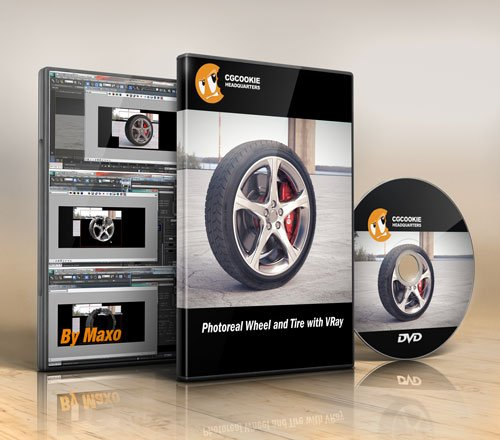 CG Cookie – Photoreal Wheel and Tire with VRay