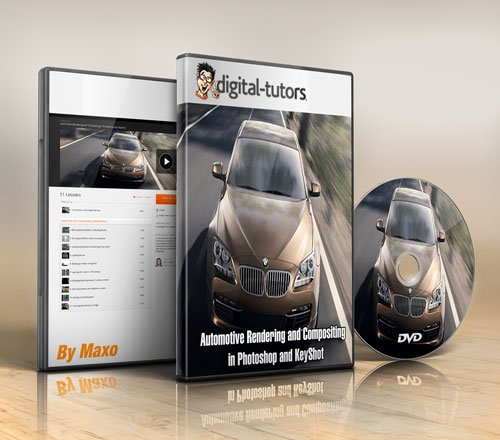 Digital - Tutors - Automotive Rendering and Compositing in Photoshop and KeyShot