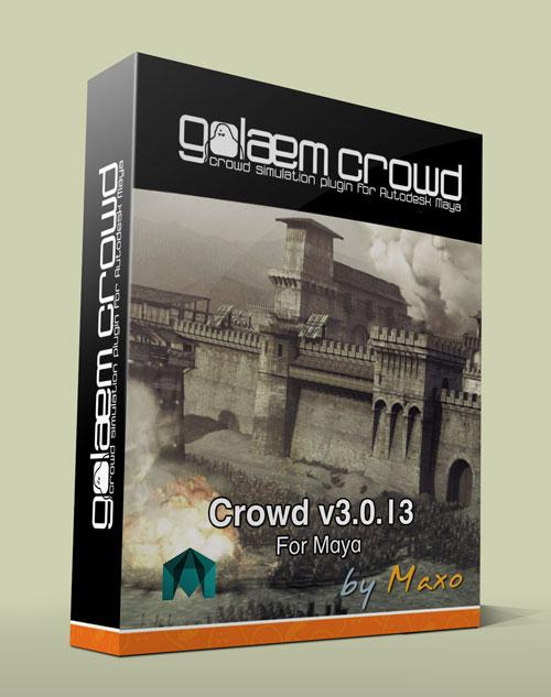 Golaem Crowd v3.0.13 For Maya 2012 – 2014 x64bit Win