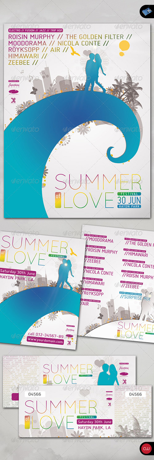 Summer of Love - Poster, Flyer, Ticket Set 165699