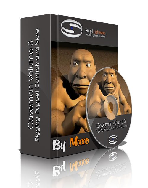 Simply Lightwave: Caveman Volume 3 - Rigging, Puppet Controls and More
