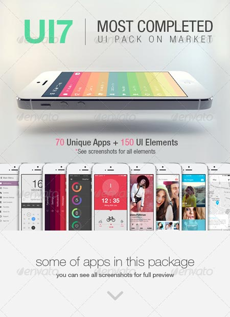 GraphicRiver UI7 - Flat Bootstrap Mobile UI Phone App 7812363