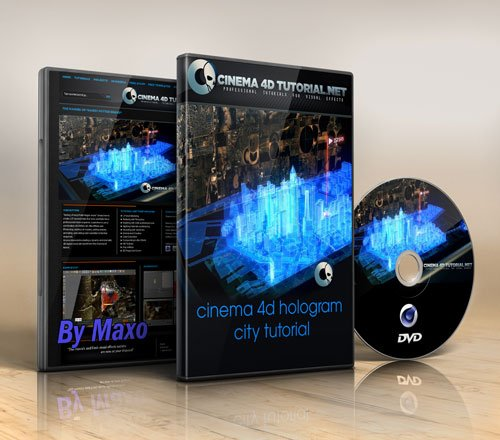 Cinema 4D Tutorial.Net: cinema 4d hologram city tutorial