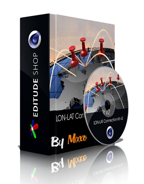 Editude LON-LAT Connection Kit v2 for Cinema 4D