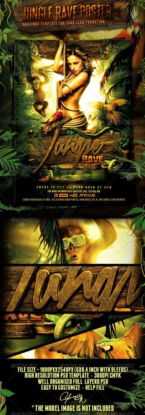 Graphicriver - Jungle Rave Poster