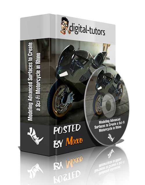 Digital Tutors - Modeling Advanced Surfaces to Create a Sci-Fi Motorcycle in Rhino