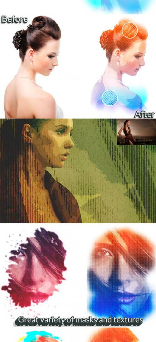 """Art Portrait"" - Creative psd kit 138904"