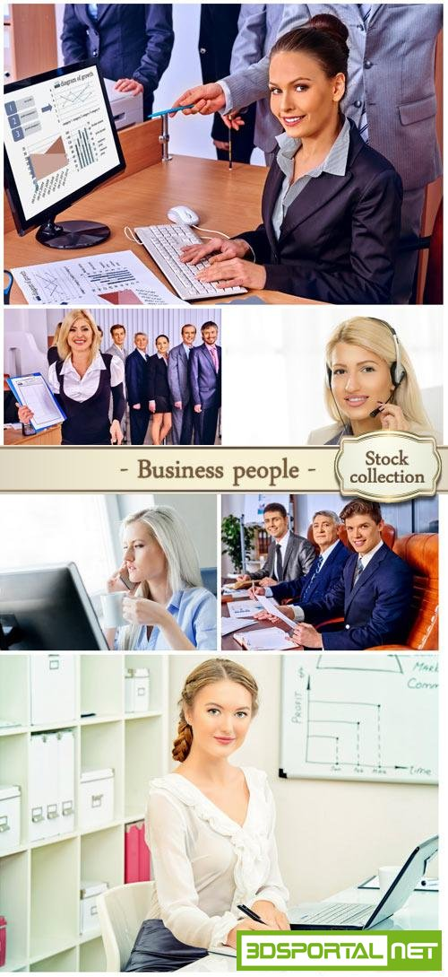 Business people working in the office - stock photos