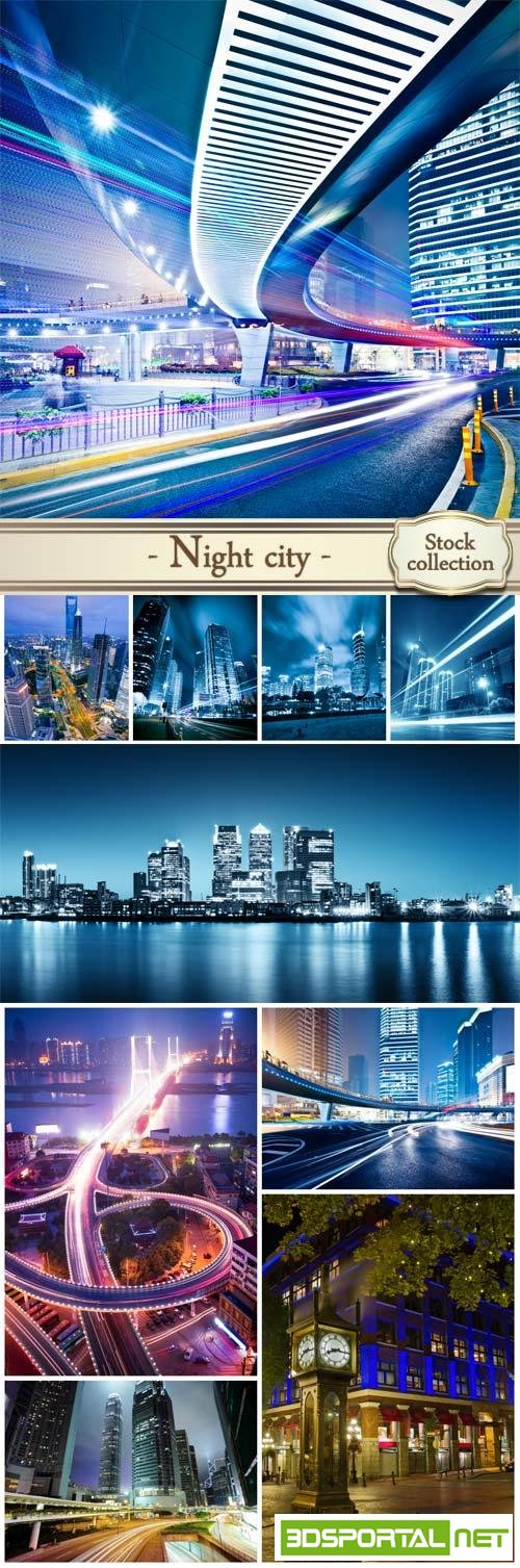 Night city, night road ? 2 - stock photos