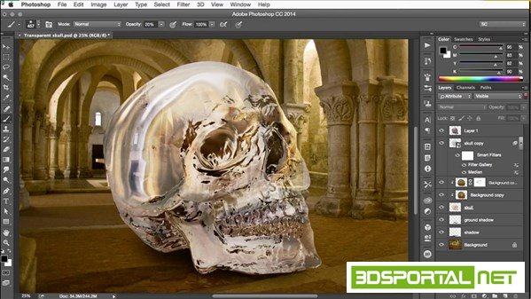 Building Transparency in Photoshop