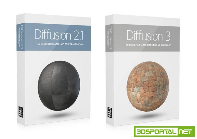 Muse Creative Vrayforc4d Material Pack Diffusion Shaders 2.1 and 3