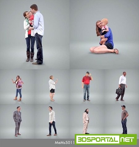 Axyx Design - Ready-Posed 3D-Human models for Close-Up views