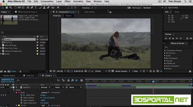 After Effects CC Rotoscoping