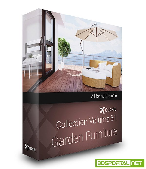 CGAxis Vol 51 Garden Furniture