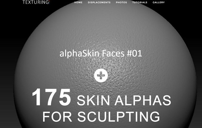Texturing.xyz – 175 Skin Alphas for Sculpting