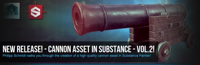 Cannon Texturing in Substance  ...