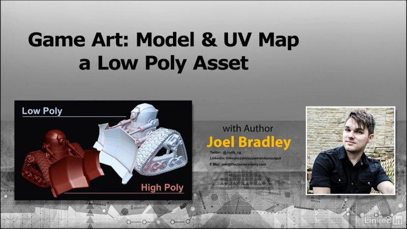 Game Art: Model & UV Map a Low ...