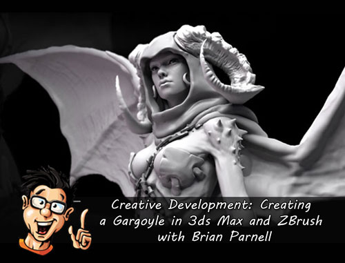 Digital - Tutors - Creative Development: Creating a Gargoyle in 3ds Max and ZBrush with Brian Parnell