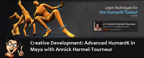 Digital - Tutors - Creative Development: Advanced HumanIK in Maya with Annick Harmel-Tourneur