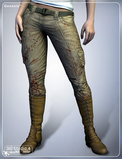 Daz 3D - Stalker Girl Pants for Genesis