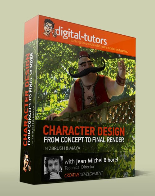 Digital - Tutors - Creative Development: Crafting Characters from Design to Composite in ZBrush and Maya