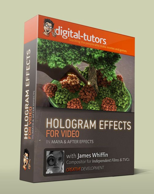 Digital - Tutors - Creative Development: Creating Hologram Effects for Video in Maya and After Effects with James Whiffin