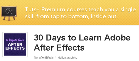 Tutsplus - 30 Days to Learn Adobe After Effects