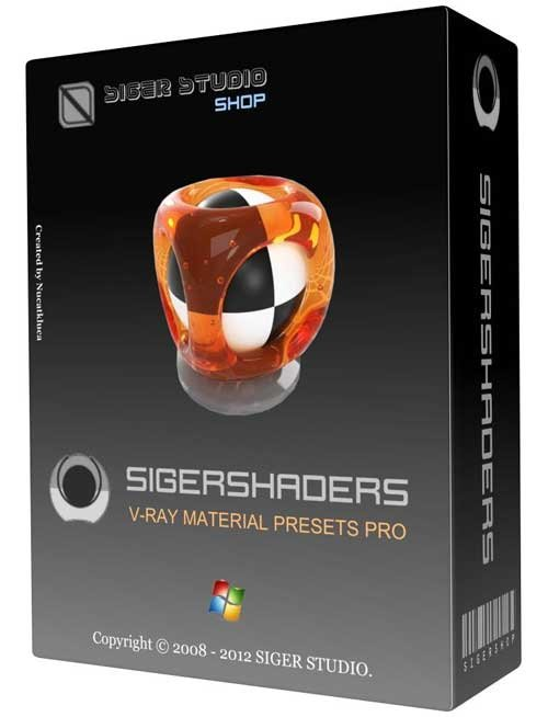 Sigershaders 2.5.10 Mod for 3Ds Max 2013 x86/x64Bit