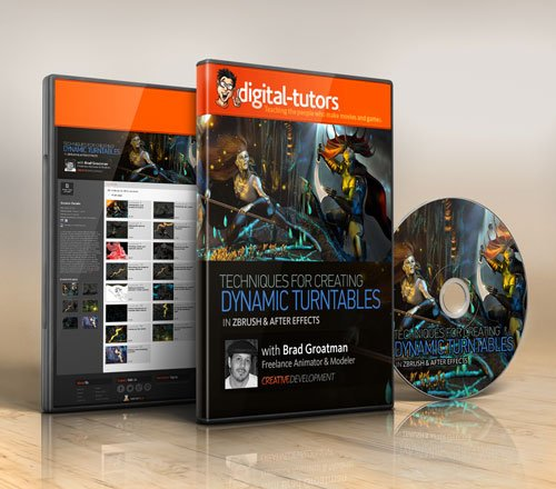 Digital - Tutors - Creative Development: Animated Turntable Techniques in ZBrush and After Effects with Brad Groatman