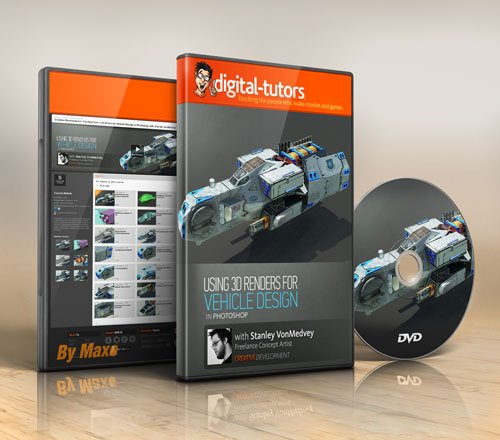 Digital - Tutors - Creative Development: Painting Over a 3D Model for Vehicle Design in Photoshop
