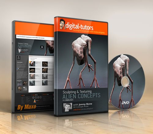 Digital - Tutors - Creative Development: Sculpting Alien Concepts in ZBrush