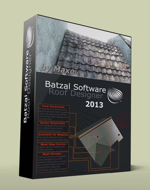 Batzal Roof Designer For 3Ds Max 2013 x32/x64Bit