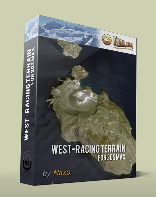 West-Racing Terrain for 3ds Max 2010 – 2012 – x32/64Bit Win