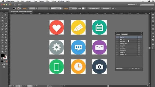 Creating Icons with Illustrator with Justin Seeley